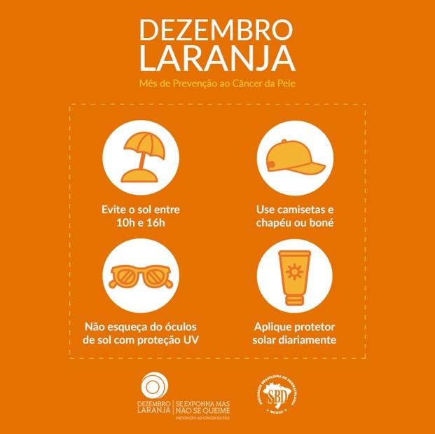 Dezembro laranja: Campanha Nacional de Prevenção ao Câncer da Pele