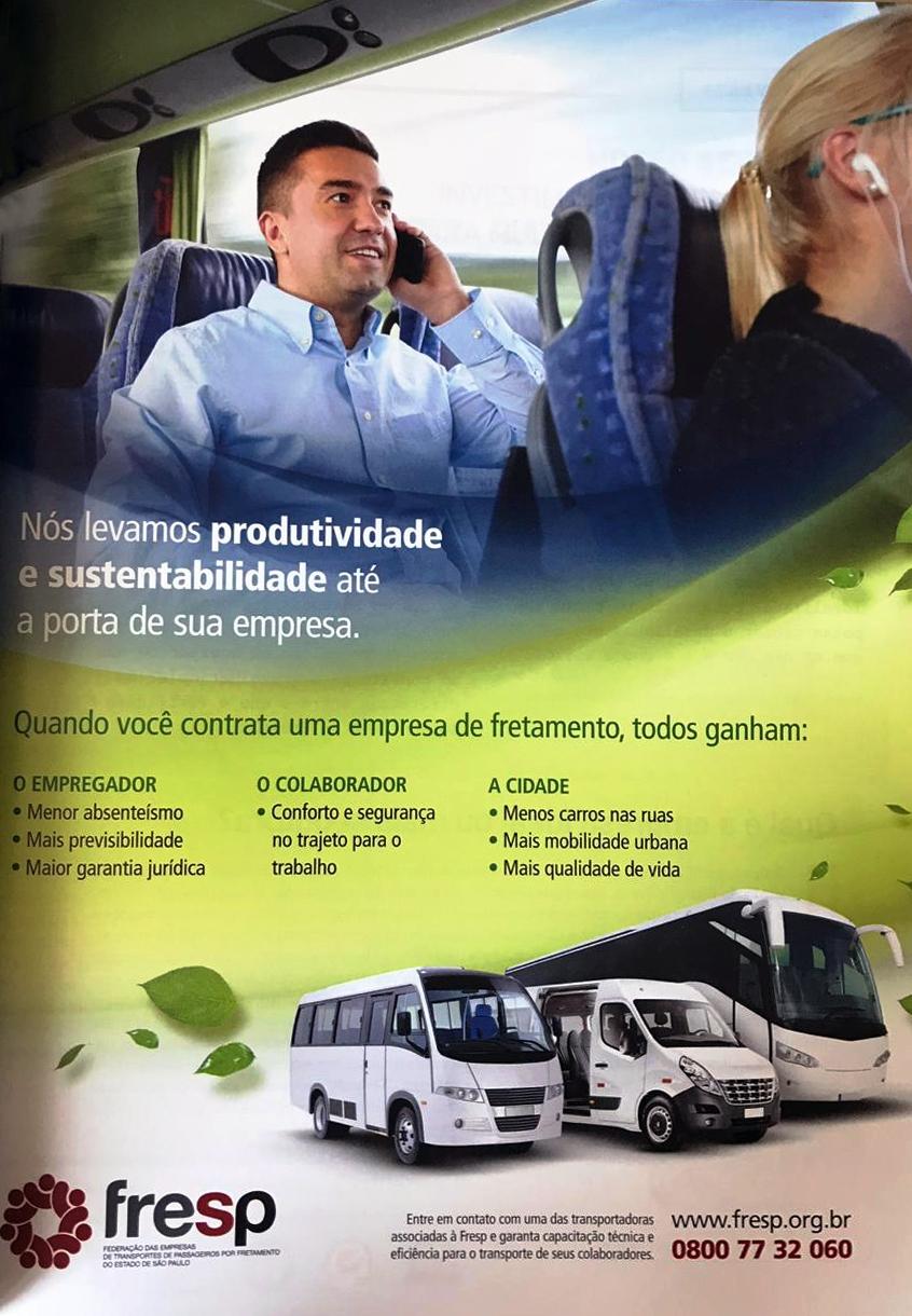 FRESP divulga as vantagens do fretamento na Revista Melhor